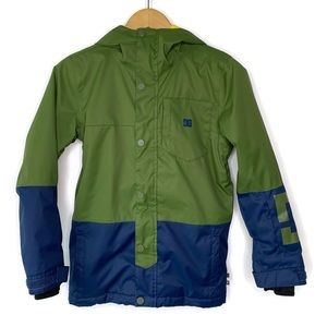 DC Green Blue Waterproof Snowboarding Jacket Coat